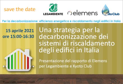 STD per appuntamento 15 marzo 2021 – Una strategia per la decarbonizzazione dei sistemi di riscaldamento in Italia