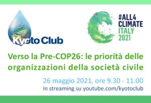 STD 26 maggio 2021 #All4climate - Italy 2021