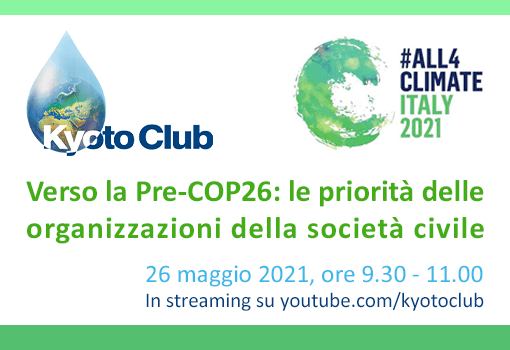 STD 26 maggio 2021 #All4climate – Italy 2021