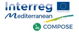 """Logo del Progetto Interreg-Med """"COMPOSE"""""""