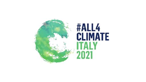 Logo #All4Climate Italy 2021 (formato 16:9)