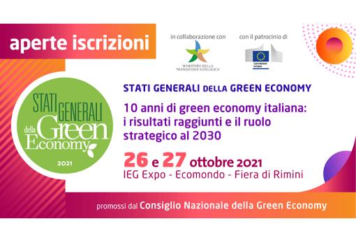 STD Stati Generali della Green Economy 2021 – Aperte le iscrizioni